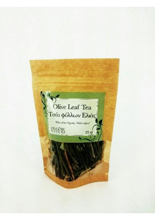 Hellenic Nature, Griekse  Olijf bladeren thee(biologisch) 25 gram, voeg de thee aan heet water toe en laat deze minimaal 6a7 minuten trekken.
