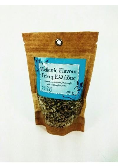 Hellenic Nature, een mix van grof zeezout, chilli peper, en verse oregano, 200 gram.
